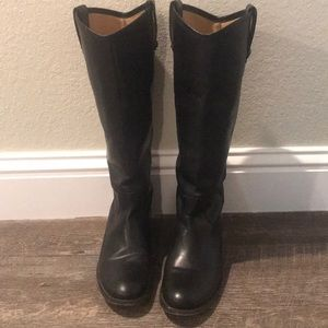 Black Frye Riding Boots